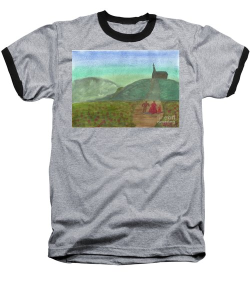 Morning Worship Baseball T-Shirt by Tracey Williams