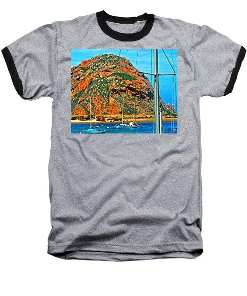 Moro Bay Sailing Boats Baseball T-Shirt