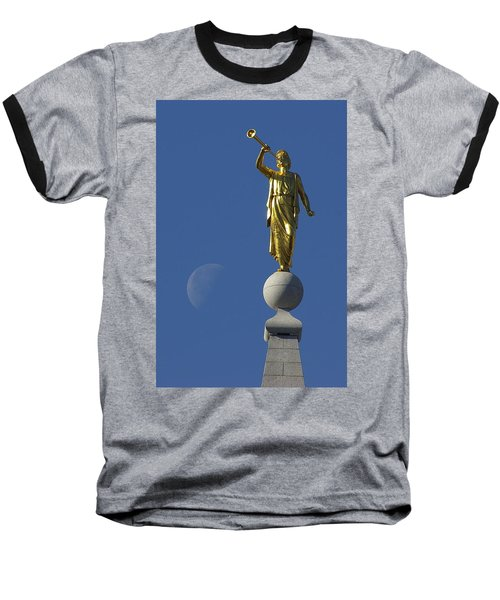 Moroni And The Moon Baseball T-Shirt