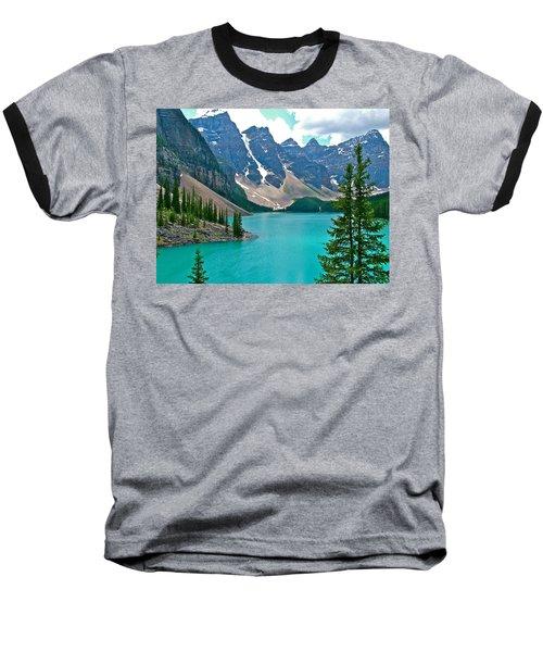 Morraine Lake In Banff Np-alberta Baseball T-Shirt