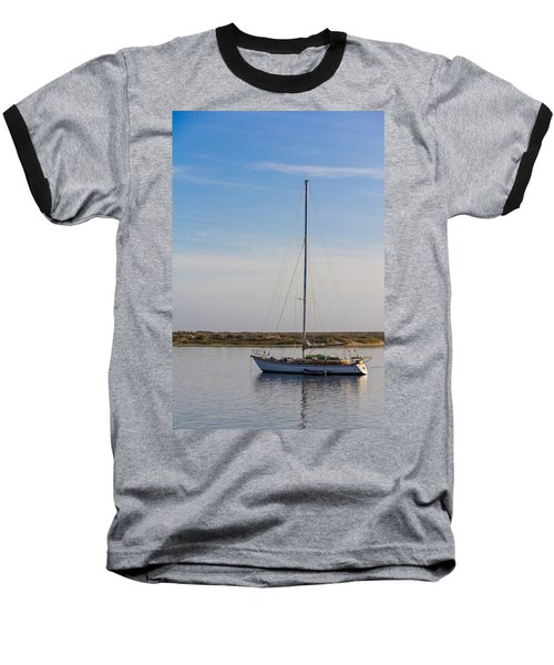 Sailboat At Anchor In Morro Bay Baseball T-Shirt