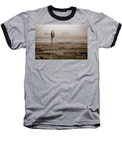 Morro Bay Windmill Baseball T-Shirt