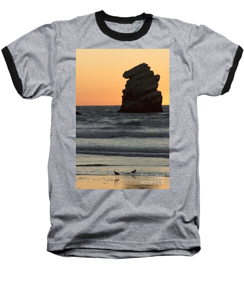 Morro Beach Sunset Baseball T-Shirt
