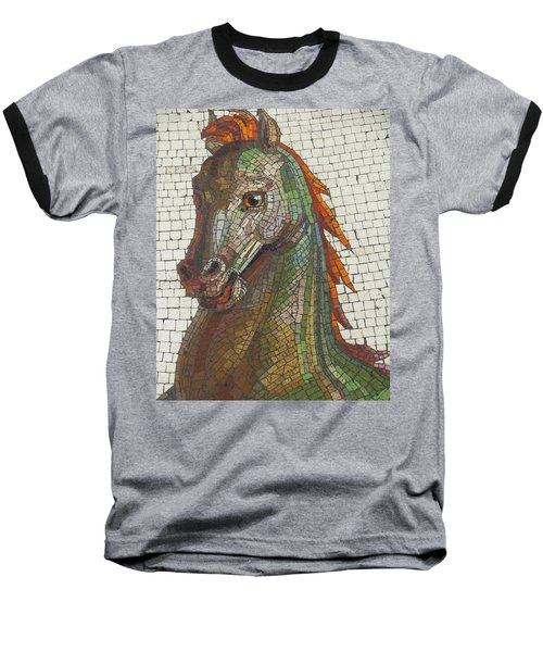 Baseball T-Shirt featuring the photograph Mosaic Horse by Marcia Socolik