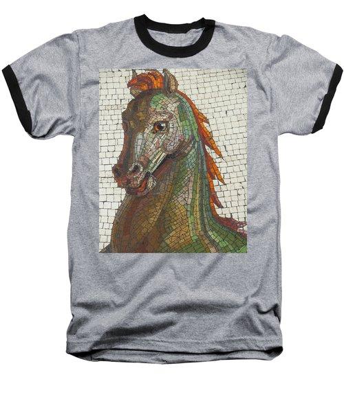 Mosaic Horse Baseball T-Shirt