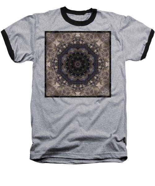 Mosaic Tile / Gray Tones Baseball T-Shirt