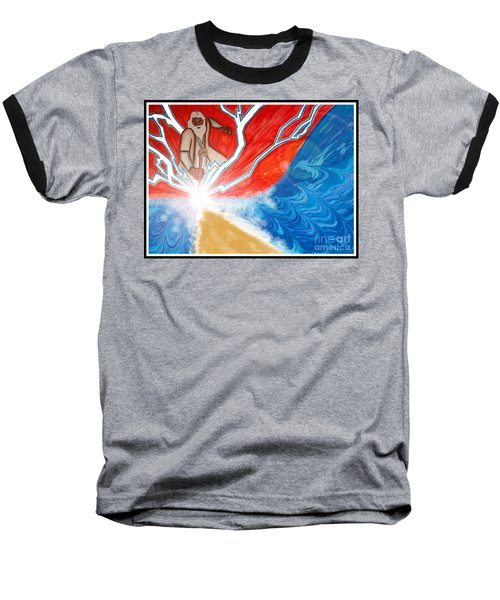 Baseball T-Shirt featuring the painting Moses by Justin Moore