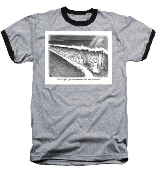 Moses Parting The Sea Baseball T-Shirt