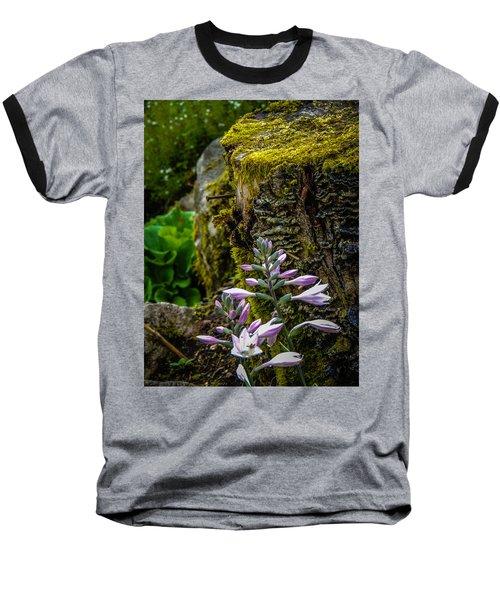 Moss And Flowers In Markree Castle Gardens Baseball T-Shirt