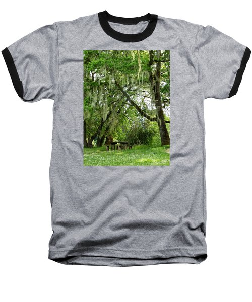 Baseball T-Shirt featuring the photograph Moss Drapery by VLee Watson