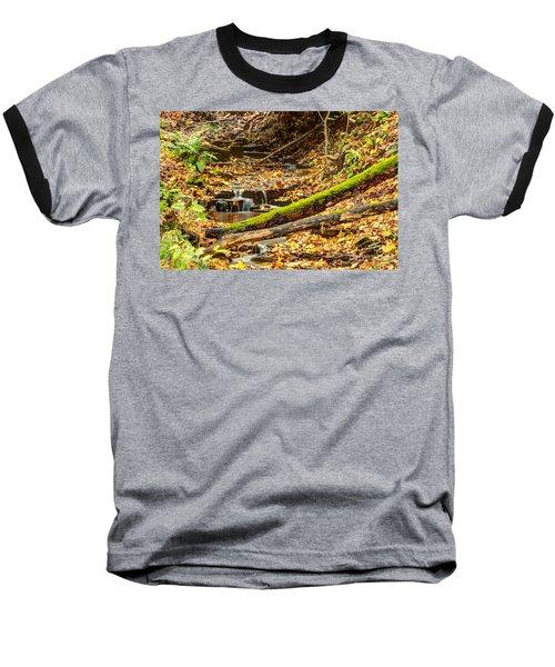 Mossy Log And Stream Baseball T-Shirt