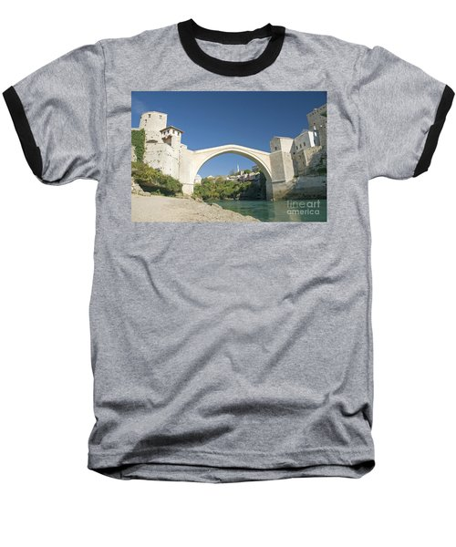Mostar Bridge In Bosnia Baseball T-Shirt