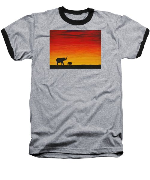 Baseball T-Shirt featuring the painting Mother Africa 1 by Michael Cross