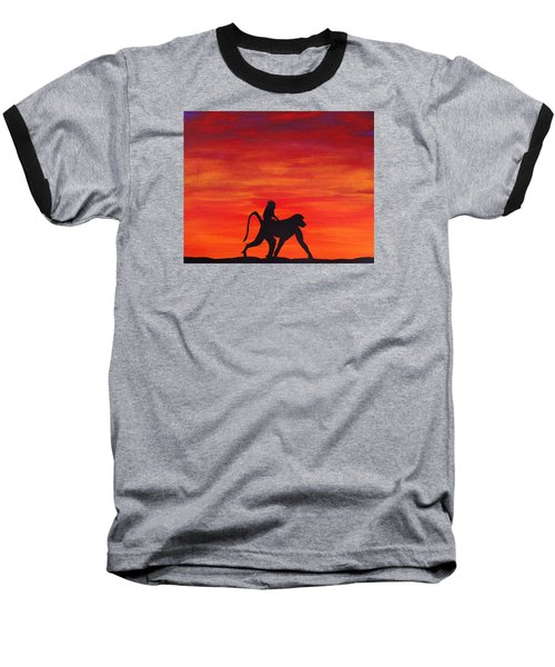 Baseball T-Shirt featuring the painting Mother Africa 4 by Michael Cross