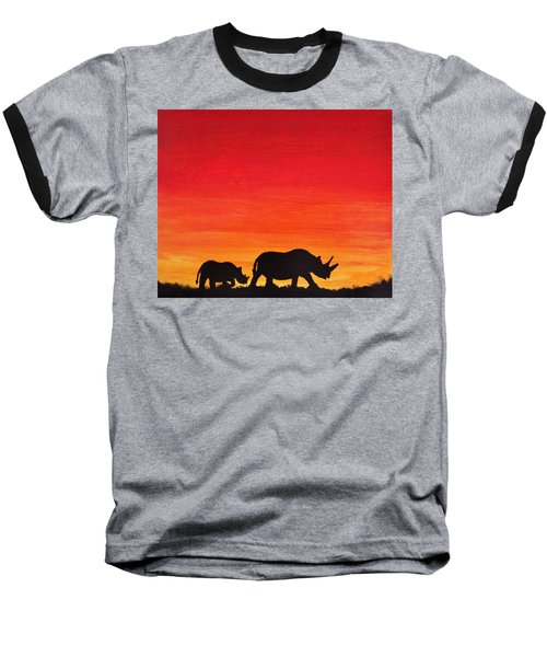 Baseball T-Shirt featuring the painting Mother Africa 5 by Michael Cross