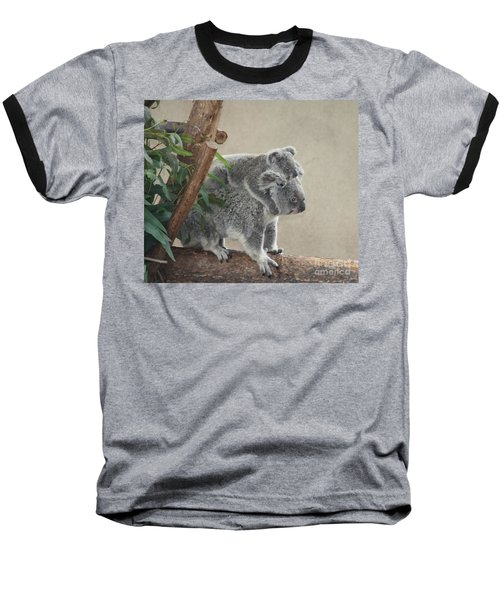 Baseball T-Shirt featuring the photograph Mother And Child Koalas by John Telfer