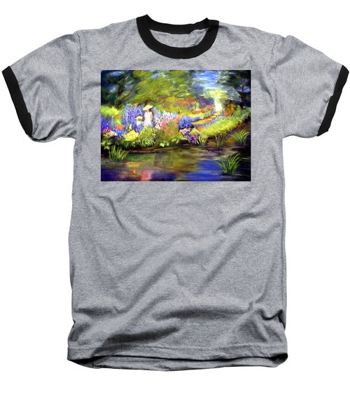 Baseball T-Shirt featuring the painting Mother And Daughter by Gail Kirtz