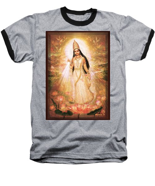 Mother Goddess With Angels Baseball T-Shirt by Ananda Vdovic