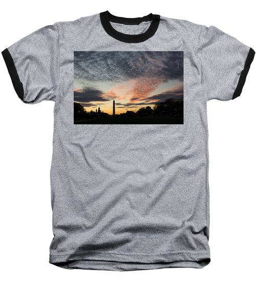 Mother Nature Painted The Sky Over Washington D C Spectacular Baseball T-Shirt