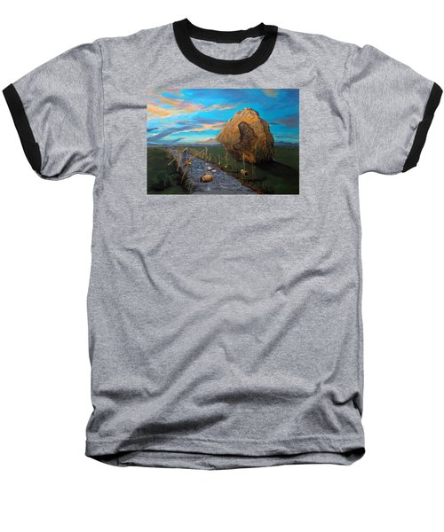 Baseball T-Shirt featuring the painting Mother Of Anguishes  by Lazaro Hurtado