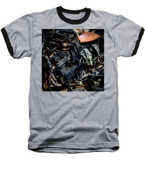 Baseball T-Shirt featuring the photograph Motorbike by Edgar Laureano