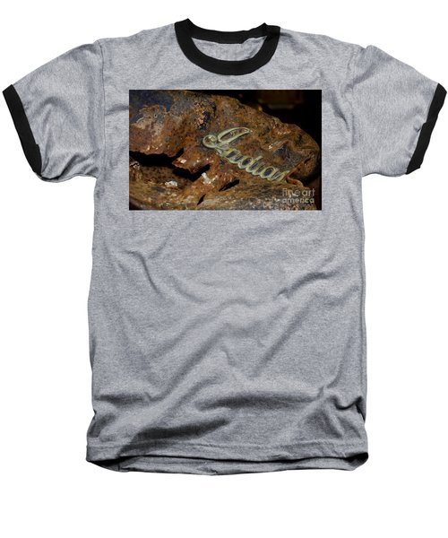 Baseball T-Shirt featuring the photograph Motorcycle Axe Murderer by Wilma  Birdwell