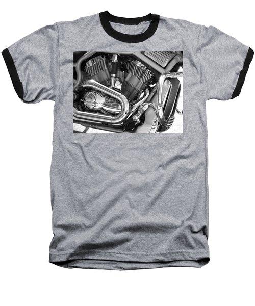Motorcycle Close-up Bw 1 Baseball T-Shirt