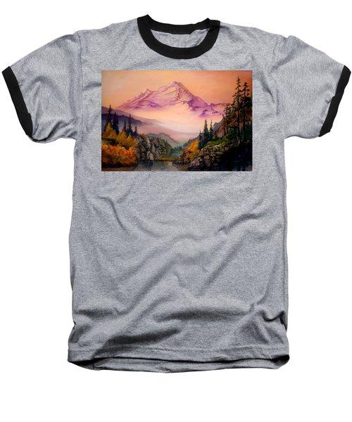 Mount Baker Morning Baseball T-Shirt by Sherry Shipley