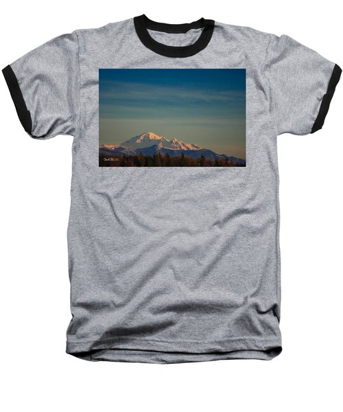 Mount Baker Sunset Baseball T-Shirt