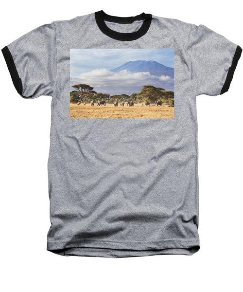 Mount Kilimanjaro Amboseli  Baseball T-Shirt