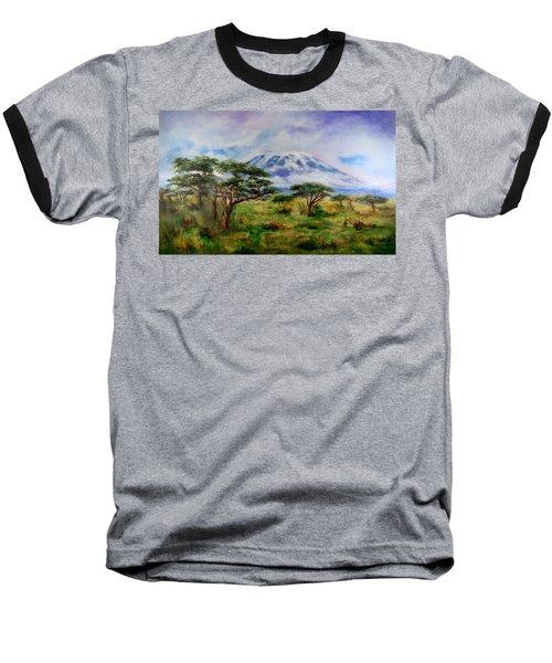 Mount Kilimanjaro Tanzania Baseball T-Shirt