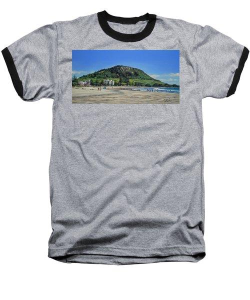 Baseball T-Shirt featuring the painting Mount Maunganui Beach 151209 by Sylvia Kula