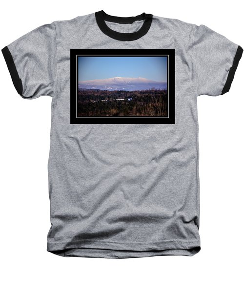 Mount Moosilauke Snowy Blanket Baseball T-Shirt