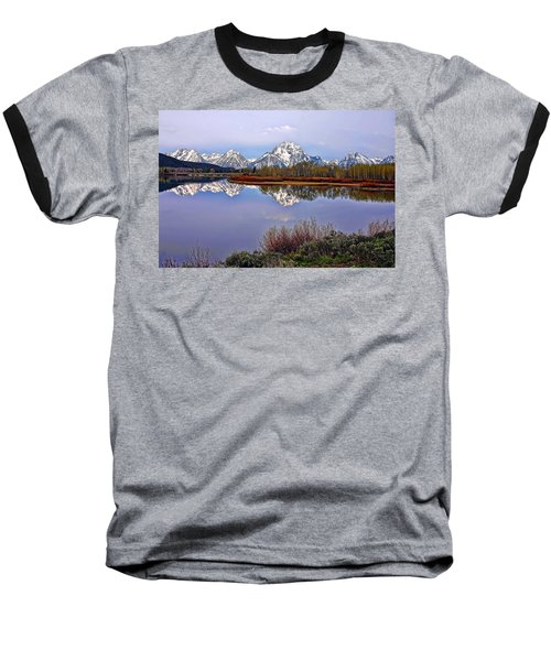 Mount Moran And Jackson Lake Baseball T-Shirt by Gary Holmes