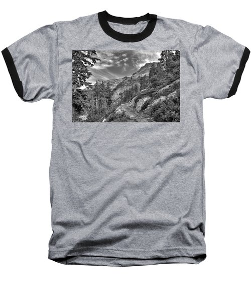 Mount Pilchuck Black And White Baseball T-Shirt