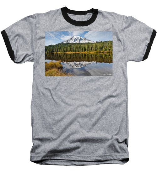 Baseball T-Shirt featuring the photograph Mount Rainier And Reflection Lakes In The Fall by Jeff Goulden