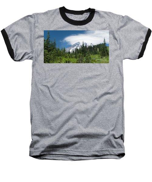 Mount Rainier Forest Baseball T-Shirt