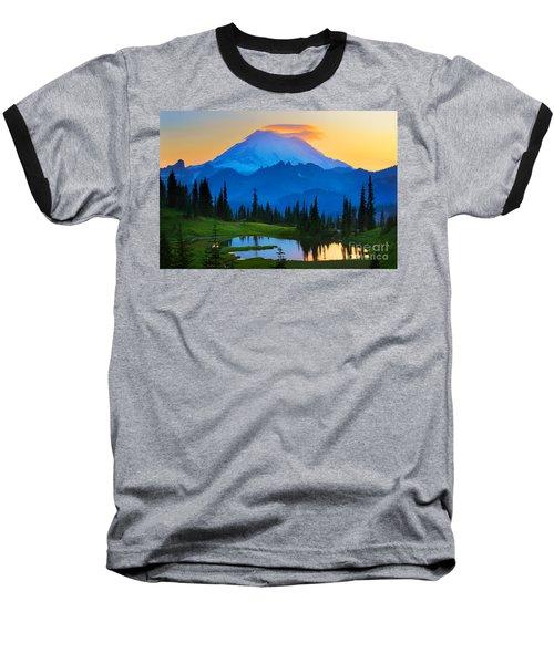 Mount Rainier Goodnight Baseball T-Shirt