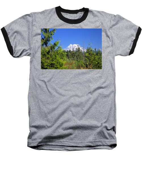 Baseball T-Shirt featuring the photograph Mount Rainier by Gordon Elwell