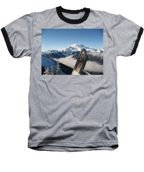 Mount Rainier Has Skis Baseball T-Shirt