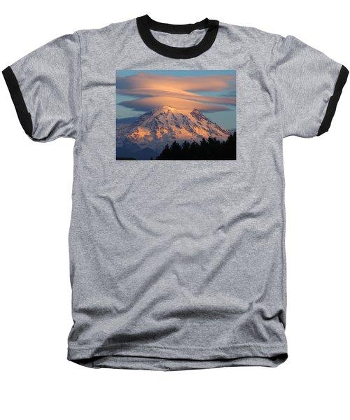 Mount Rainier In November  Baseball T-Shirt