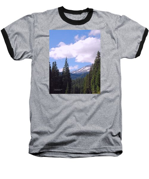 Mount Rainier National Park Baseball T-Shirt