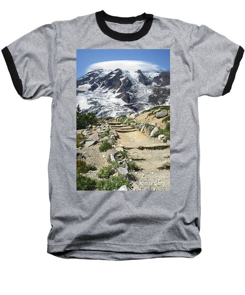 Mount Rainier Trail Baseball T-Shirt