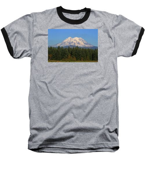 Baseball T-Shirt featuring the photograph Mount Rainier Washington by Tom Janca
