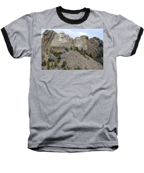 Mount Rushmore In South Dakota Baseball T-Shirt by Clarice  Lakota