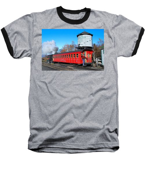 Mount Washington Cog Railway Car 6 Baseball T-Shirt