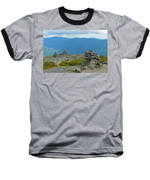 Mount Washington Rock Cairns Baseball T-Shirt