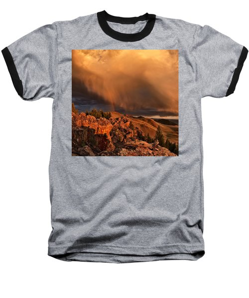 Mountain Drama Baseball T-Shirt