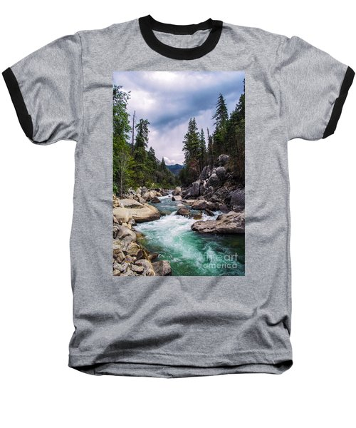 Mountain Emerald River Photography Print Baseball T-Shirt