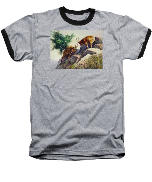 Mountain Goats - Powerful Fight  Baseball T-Shirt